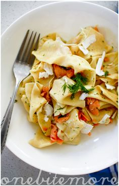 Pasta with Smoked Salmon, Ricotta, and Dill