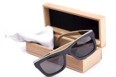 Bambus Sonnenbrille, Black Skater