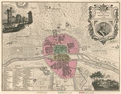 MEDIEVAL PARIS 1180. Hotel de Vauvert. Tour de Nesle. VUILLEMIN, 1879 old map Antique Maps, Tour, Vintage World Maps, Europe, Paris, Antiques, Ebay, Old Maps, Antiquities