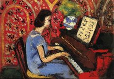 Woman at the Piano by @matisseart #expressionism