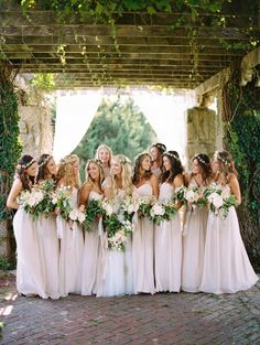 Romantic pale pink bridesmaid dresses: Photography: Brumley And Wells - brumleyandwells.com