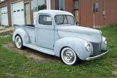 40 Ford Pickup Antique Trucks, Antique Cars, Hot Rod Trucks, Ford Trucks, Car Ins, Automobile, Vehicles, Mercury, Classic
