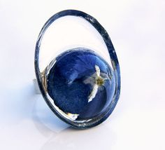 Free Shipping Real Daisy and Resin Ring Statement by JasmineThyme, $30.00