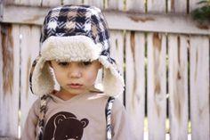 Kostenlose Anleitung Holzfällermütze für Kinder nähen / Free pattern for a lumber jack hat for kids