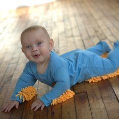 Baby Mop - La grenouillère serpillère pour bébé