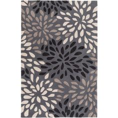 Surya Cosmopolitan Gray Hand Tufted Rug (92 CAD) ❤ liked on Polyvore featuring home, rugs, pile rug, grey textured rug, gray rug, textured rugs and plush area rugs