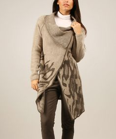 Love this 100% Parisienne Chic Mole Abstract Asymmetrical Duster by 100% Parisienne Chic on #zulily! #zulilyfinds