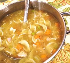 """""""This easy and delicious turkey soup is made using leftovers from Thanksgiving or Christmas dinner. I usually make cornbread muffins to serve with it.""""  Ingredients     1 picked over turkey carcass   1 1/2 cups leftover stuffing   2"""