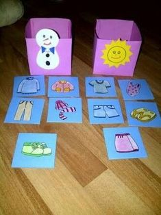 Preschool Winter Crafts Winter Clothes Bulletin Board - Evening Dresses and Fashion Toddler Learning Activities, Montessori Activities, Educational Activities, Classroom Activities, Teaching Kids, Kids Learning, Montessori Materials, Earth Science Activities, Circle Time Activities