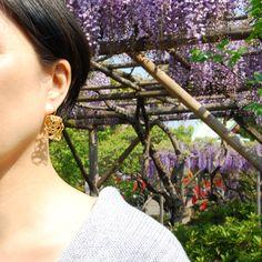 MARGO gold-plated brass earrings by joid'art SS14 #joidart #earrings