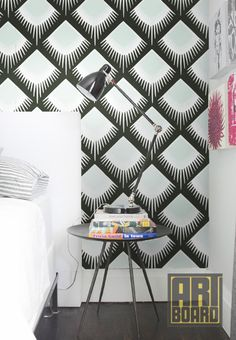 Scallop Pattern  self adhesive DIY wallpaper home by ArtBoardI, $75.00