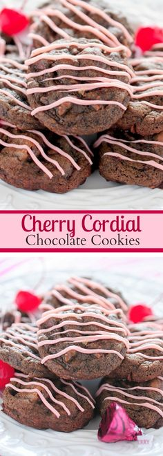 Cherry Cordial Chocolate Cookies