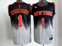 fc550714c32 New York Knicks 1 Amar e Stoudemire Black Grey Revolution 30 Swingman NBA  Jerseys Wholesale Cheap
