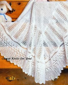 Baby Christening Shawl Shawl Blanket [48 x 48 inches] in 3ply yarn - PDF of a Vintage Knitting Pattern Instant Download PD INSTANT DOWNLOAD [N128]: To purchase this pattern all you have to do is submit payment and it will be available for instant download. You will require Adobe reader to open this format, which is a free download from the Adobe website.