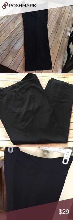 "Lane Bryant Athletic Stretch Casual Pull On Pants These are nice comfortable women's athletic pants from Lane Bryant They are a soft stretch comfortable cotton pants and feature a small inner waist pocket They are NEW Without TAGS Made of 95% Cotton 5% Spandex  Color is Black Size 22/24 Waist 40"" (20"" flat across unstretched) Inseam 30"" Rise 13"" All designer sizing is not the same, if you are not sure of your size  Please contact me for any measurements you may need. And Thanks for Visiting…"