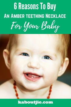 6 Reasons To Buy An Amber teething Necklace For Your Baby     Baltic amber teething necklaces are manufactured from Baltic amber and are intended to be worn against your baby's skin - here's why you want to buy an amber teething necklace for your baby.    #amberteethingnecklace #winwithkaboutjie #balticamber