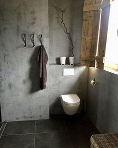 Binnenkijken in een landelijk sober interieur badkamer ideeën | badkamers landelijke stijl | bathroom decor | kalkverf | sober | stoer | bathroom rustic