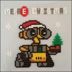 Wall-E Christmas card hama beads by Synfull