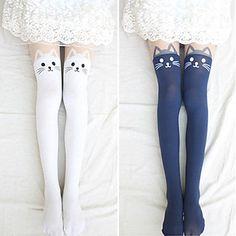 Lovely Kitty Velvet Lolita Velvet Stockings (4 Colors) – GBP £ 5.10