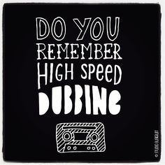 Do you remember high speed dubbing? ;-) #lettering #typography #handlettering #blackwhite #paperfuel