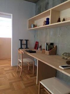 Home Office Design, House Design, Muji Style, Minimalist Home Interior, Home Desk, Diy Woodworking, Home Goods, Interior Design, Room