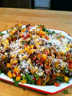 Lamb, Mango and Avocado salad