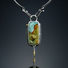 Vista Jasper Centerpiece. Fabricated Sterling Silver, 18k and 22k. www.amybuettner.com https://www.facebook.com/pages/Metalsmiths-Amy-Buettner-Tucker-Glasow/101876779907812?ref=hl https://www.etsy.com/people/amybuettner http://instagram.com/amybuettnertuckerglasow