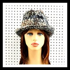 Crochet Hat Womens Hat Womens Fedora Hat Natural Stripe Hat Natural Hat Crochet Winter Hat ANDY Crochet Fedora Hat for Women by strawberrycouture on Etsy  Crochet Hat Womens Hat Womens Fedora Hat Natural Stripe Hat Natural Hat Crochet Winter Hat ANDY Crochet Fedora Hat for Women 55.00 USD by #strawberrycouture on #Etsy  MUST SEE! http://ift.tt/1POQn1j (Unique Womens Crochet & Knit Hats Scarves Patterns) Strawberry Couture on Etsy is about having fun with a crochet hook and knitting needles…
