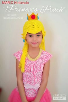Check out this item in my Etsy shop https://www.etsy.com/listing/510709111/princess-peach-crochet-wig-hat-princess
