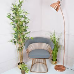 Copper Floor Lamp from not on the high street