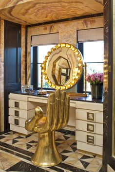 Kelly Wearstler Residential luxury modern bathroom