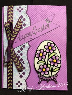 Elizabeth Craft Designs Egg Peel off Stickers. Using Cool Diamond Glitter. Painted with Copic Markers.Spellbinder edges and Darice Basket Weave  embossing folder for textured background