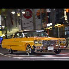 Bugatti, Lamborghini, Ferrari, 64 Impala Lowrider, Chevrolet Impala, Lo Rider, Chevy Muscle Cars, Old School Cars, Amazing Cars