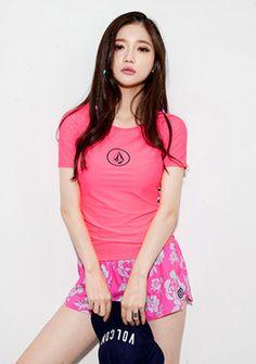 volcom simply solid s rash guard-pink #somethinsweet #sthsweet