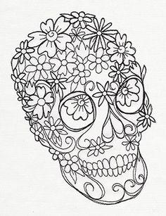 Flower Skull design (UT8328) from UrbanThreads.com
