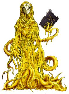 The King in Yellow by Fafnirx Yog Sothoth, Call Of Cthulhu Rpg, Lovecraftian Horror, Eldritch Horror, Dark Artwork, Hp Lovecraft, Cool Monsters, Creature Feature, Horror Art