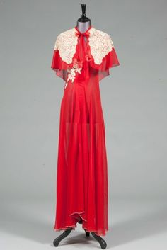 Wallis Simpson Fashion & Style Icon (Vogue.com UK) | British Vogue - Simpson's scarlet chiffon nightdress, from the late Forties to early Fifties, was auctioned in March 2011 by Kerry Taylor Auctions for £5,500.