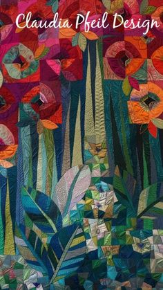 Mail – Rita Gibson – Ausblick - Diy and Crafts Quilting Designs, Quilting Projects, Landscape Art Quilts, Quilt Modernen, Flower Quilts, Contemporary Quilts, Sewing Art, Applique Quilts, Fabric Art