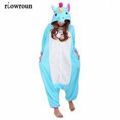 078782be7 Barato Conjuntos de pijama Mulheres pijama Onesie unicórnio Ponto Panda  onesies para adultos Pijama Animais Traje