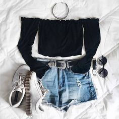 Fashion - New Site Mode - - Outfits Teenage Outfits, Hipster Outfits, Teen Fashion Outfits, Cute Casual Outfits, Edgy Outfits, Swag Outfits, Mode Outfits, Cute Summer Outfits, Outfits For Teens