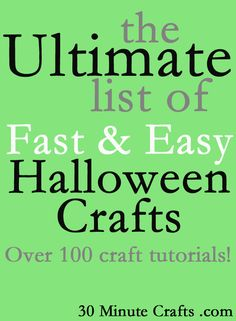 The Ultimate List of Fast & Easy Halloween Crafts