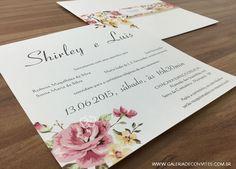 Convite de casamento vintage - Galeria de Convites