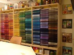Love the rainbow of color paper