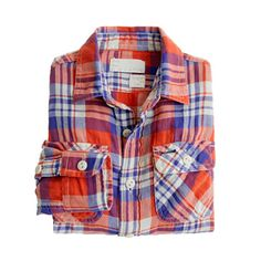 J Crew vintage camp flannel shirt in fleetwood plaid