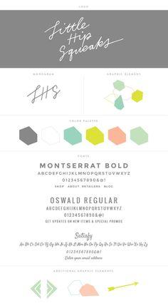 Design branding report // Little Hip Squeaks by Aeolidia Graphic Design Typography, Graphic Design Illustration, Blog Design, Web Design, Identity Design, Brand Identity, Branding Kit, Brand Style Guide, Brand Board