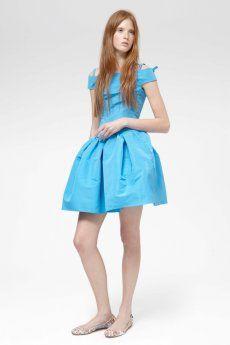 Carven Off Shoulder Dress Blue