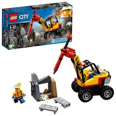 This Lego City City Mining Power Splitter building set will provide hours of imaginative fun. Grab your hard hat and head out with the Lego City 60185 Mining Power Splitter to dig for gold! Construction For Kids, Brick Construction, Moon Buggy, Lego Building Sets, Lego City Sets, Lego City Police, Lego Toys, Lego Lego, Lego System