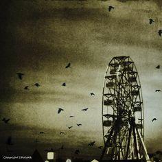 Vampire The Requiem, Dark Circus, Album Cover Design, Studio Logo, Vintage Marketplace, Surrealism, Ferris Wheel, Canvas Wall Art, Vibrant Colors