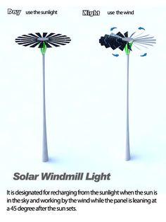 Dual-Powered Lampposts : Solar Windmill Light