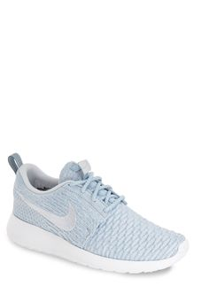 Currently crushing on the dreamy pastel blue shade of these Nike 'FlyKnit Roshe Run' sneakers.